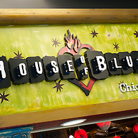 House of Blues sign in Chicago, Illinois, USA. House of Blues is a popular music venue with locations throughout the United States.