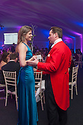 MAJ NEIL CROSS; SARAH FITZPATRICK; , Quorn Hunt Ball, Stanford Hall. Standford on Soar. 25 January 2014