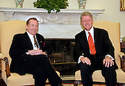 "President Bill Clinton meets with Czech President Vaclav Havel in the Oval Office of the White House September 16, 1998 in Washington, DC.  Havel, the former dissident playwright who led Czechoslovakia's 1989 ""Velvet Revolution"" against communism and then served as his country's president, died December 18, 2011.  He was 75."