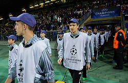 Flag barriers during football match between NK Maribor, SLO  and Chelsea FC, ENG in Group G of Group Stage of UEFA Champions League 2014/15, on November 5, 2014 in Stadium Ljudski vrt, Maribor, Slovenia. Photo by Vid Ponikvar / Sportida