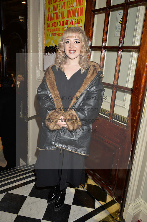 LEAH McFALL at Beautiful - The Carole King Musical 1st Birthday celebration evening at The Aldwych Theatre, London on 23rd February 2016.
