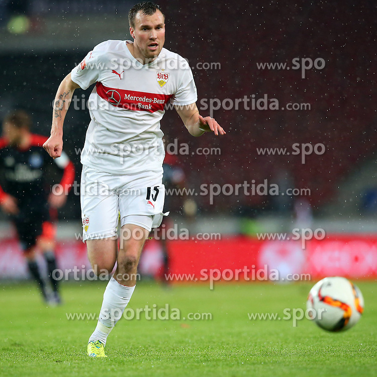 30.12.2015, Mercedes Benz Arena, Stuttgart, GER, 1. FBL, VfB Stuttgart vs Hamburger SV, 19. Runde, im Bild Neuzugang Kevin Grosskreuz (VfB Stuttgart) // during the German Bundesliga 19th round match between VfB Stuttgart and Hamburger SV at the Mercedes Benz Arena in Stuttgart, Germany on 2015/12/30. EXPA Pictures © 2016, PhotoCredit: EXPA/ Eibner-Pressefoto/ Langer<br /> <br /> *****ATTENTION - OUT of GER*****