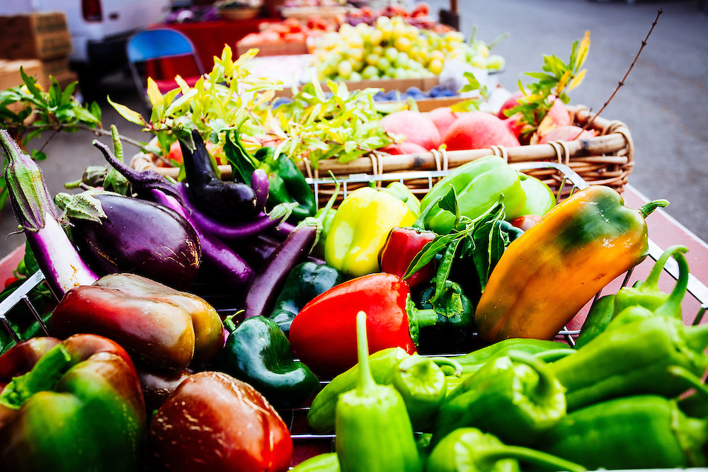 Vibrant colors adorn the market this time of year.