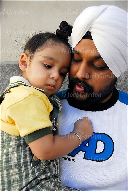 Ethnic Pride Father and Son @ Annual Sikh Day Parade NYC