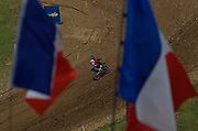 Dutch EMX 125 rider Rick Elzinga on track in St. Jean D'Angely.