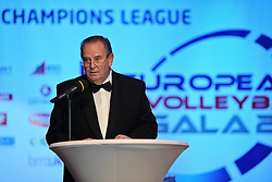 25.06.2010, UNIQUA Tower, Wien, AUT, CEV Gala 2010 Auslosung Champions League Volleyball Saison 2010/2011,, im Bild Andre Meyer (Praesident Europaeischer Volleyballverband CEV). EXPA Pictures © 2010, PhotoCredit: EXPA/ nph/  Kurth / SPORTIDA PHOTO AGENCY