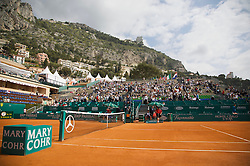 MONTE-CARLO, MONACO - Thursday, April 24, 2008: Centre Court branding at the Masters Series Monte-Carlo at the Monte-Carlo Country Club. (Photo by David Rawcliffe/Propaganda)