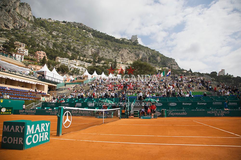 MONTE-CARLO, MONACO - Thursday, April 24, 2008: Centre Court branding at the Masters Series Monte-Carlo at the Monte-Carlo Country Club. (Photo by David Rawcliffe/Propaganda)
