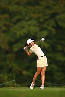 August 20, 2004; Dublin, OH, USA;  14 year old amateur Michelle Wie tees off at the 7th hole during the 2nd round of the Wendy's Championship for Children golf tournament held at Tartan Fields Golf Club.  <br />