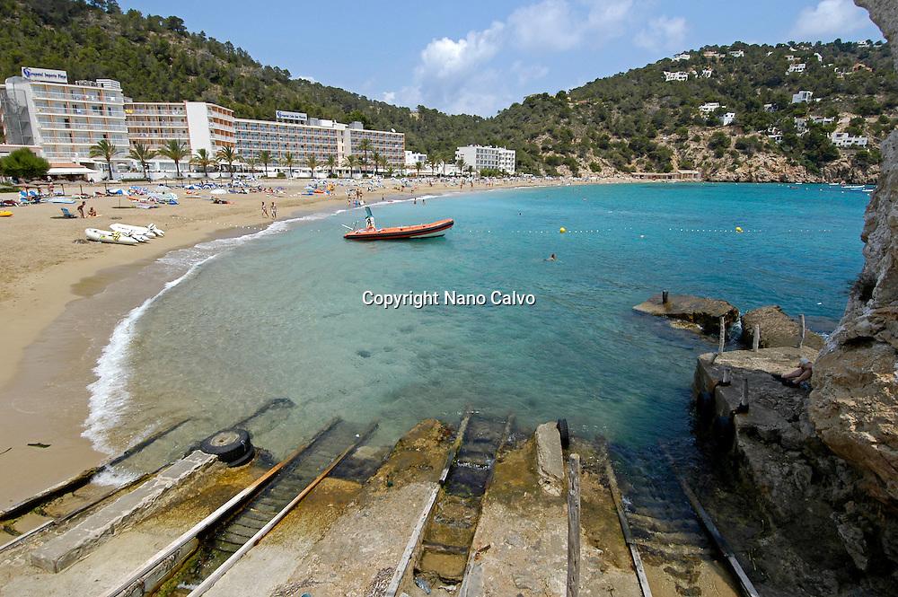 Cala San Vicente, Ibiza, Balearic Islands, Spain