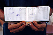 (MODEL RELEASED) Cuban families receive ration cards that in theory let them obtain all their food staples at astonishingly low, state-subsidized prices. In practice, the cards don't quite cover everything, so Cubans must venture into the vastly more expensive agromercados, open markets that sell products from the few government-sanctioned private farms and surpluses from cooperative farms that have fulfilled their state quotas. Hungry Planet: What the World Eats (p. 102).