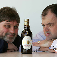 Launch of 1488 Whisky Ale by Tullibardine Distillery..<br />Pictured are Douglas Ross of Bridge of Allan brewery (left) and Doug Ross Director of Tullibardine Distillery.<br /><br />Picture by Graeme Hart.<br />Copyright Perthshire Picture Agency<br />Tel: 01738 623350  Mobile: 07990 594431
