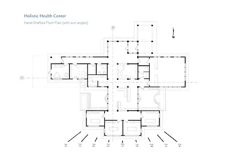 An Architectural Student Design Project Creating An Acupuncture  Center/holistic Healing Center. The Design.