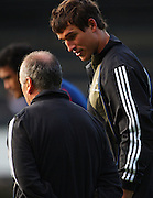 New All Black Anthony Boric talks with head coach Graham Henry.<br /> All Blacks Training Session at Rugby League Park, Newtown, Wellington. Tuesday 3 June 2008. Photo: Dave Lintott/PHOTOSPORT