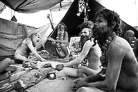 Naga babas remove themselves from the world and live lives apart, often by undertaking great suffering, like this man who has spent his entire life with his arm raised above his head so they can pursue their spirituality
