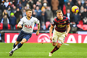 Tottenham Hotspur Defender Kieran Trippier (2) and Newcastle United Midfielder Matt Ritchie (11) in action during the Premier League match between Tottenham Hotspur and Newcastle United at Wembley Stadium, London, England on 2 February 2019.