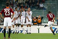 Roma 20 Maggio 2003 - Rome May 20 2003 <br />Andata finale di Coppa Italia - First Match final Italy's Cup <br />Roma Milan 1-4 <br /><br />Francesco Totti (Roma) porta in vantaggio la Roma