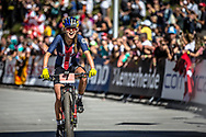 Kate Courtney (USA) wins the Women Elite Cross Country event at the 2018 UCI MTB World Championships - Lenzerheide, Switzerland