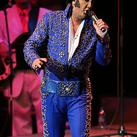 """Elvis Tribute Artist Mark Anthony performs """"Impossible Dream"""", during the Ultimate Elvis Tribute Artist Competition Finals Saturday night at the BancorpSouth Arena in Tupelo."""
