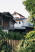 A view over houses in the Old Town in Chiang Mai, Thailand.