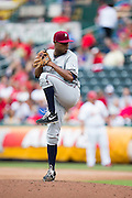 Sugar Ray Marimon (28) of the Northwest Arkansas Naturals winds up during a game against the Springfield Cardinals at Hammons Field on July 28, 2013 in Springfield, Missouri. (David Welker)