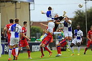 Josh Lillis punches clear during the EFL Sky Bet League 1 match between Bristol Rovers and Rochdale at the Memorial Stadium, Bristol, England on 10 September 2016. Photo by Daniel Youngs.