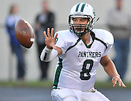 The Elyria Catholic Panthers came from behind for a football varsity win on September 14, 2012 at Bay High School. Images © David Richard and may not be copied or posted without permission.