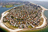 Aerial view of Coney Island, New York, view north as seen in 2009.