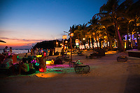 Saturday night sees White Sand Beach come alive with restaurants and bars on the sands of this tropical paradise.