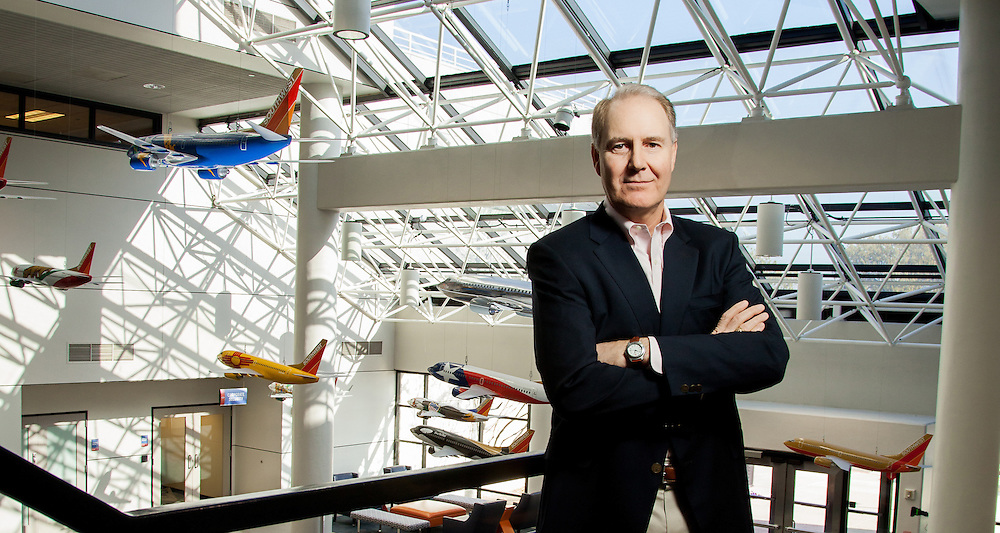 Gary Kelly, CEO of Southwest Airlines, photographed for the Ernst & Young LLP alumni magazine Connect.