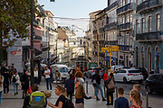 Looking through the people and tourists in Sao Roque square on the 29th of October 2019 down the busy road of R.do Alecrim, Lisbon, Portugal.  (photo by Andrew Aitchison / In pictures via Getty Images)