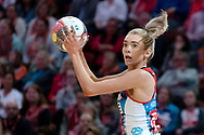 SYDNEY, NSW - JUNE 16: Helen Housby of the Swifts looks to pass the ball during the round 8 Super Netball match between the Sydney Swifts and the Giants at Qudos Bank Arena on June 16, 2019 in Sydney, Australia.(Photo by Speed Media/Icon Sportswire)