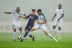 Martin Kramaric of Maribor between Dario Canadzija of NK Olimpija and Danijel Miskic of NK Olimpija during football match between NK Maribor and NK Olimpija Ljubljana in 34th Round of Prva liga Telekom Slovenije 2017/18, on May 19, 2018, in Stadion Ljudski vrt, Maribor, Slovenia. Photo by Vid Ponikvar / Sportida