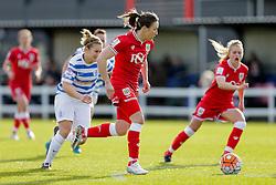 Corinne Yorston of Bristol City Women breaks to score a goal - Mandatory byline: Rogan Thomson/JMP - 14/02/2016 - FOOTBALL - Stoke Gifford Stadium - Bristol, England - Bristol City Women v Queens Park Rangers Ladies - SSE Women's FA Cup Third Round Proper.