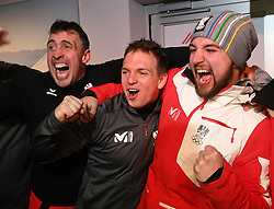 12.02.2018, Austria House, Pyeongchang, KOR, PyeongChang 2018, Medaillenfeier, im Bild RodelTeam // during the Celebration of the gold medal of the Men' s Luge Singles competition of the Pyeongchang 2018 Winter Olympic Games at the Austria House in Pyeongchang, South Korea on 2018/02/12. EXPA Pictures © 2018, PhotoCredit: EXPA/ Erich Spiess