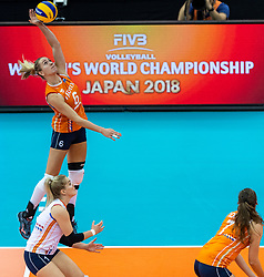 15-10-2018 JPN: World Championship Volleyball Women day 16, Nagoya<br /> Netherlands - USA 3-2 / Maret Balkestein-Grothues #6 of Netherlands
