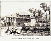 Principal Observatory, Siam. Illustrating the observatory at Chulai Point, in modern day Thailand, used to examine the Transit of Venus in November 1875. From  'The Illustrated London News ' Volume 66  (London, 19 June 1875).