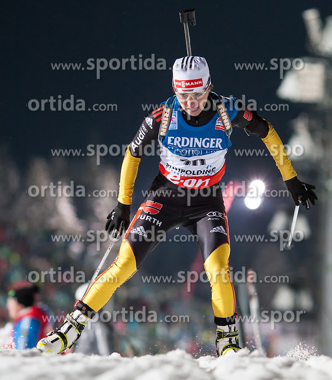 11.01.2013, Chiemgau Arena, Ruhpolding, GER, E.ON IBU Weltcup, Sprint, Damen, im Bild Andrea Henkel (GER) // Andrea Henkel of Germany during Womens sprint of E.ON IBU Biathlon World Cup at the Chiemgau Arena in Ruhpolding, Germany on 2013/01/11. EXPA Pictures © 2013, PhotoCredit: EXPA/ Sven Kiesewetter