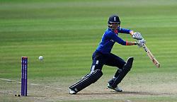 England's Sarah Taylor cuts the ball. - Photo mandatory by-line: Harry Trump/JMP - Mobile: 07966 386802 - 21/07/15 - SPORT - CRICKET - Women's Ashes - Royal London ODI - England Women v Australia Women - The County Ground, Taunton, England.