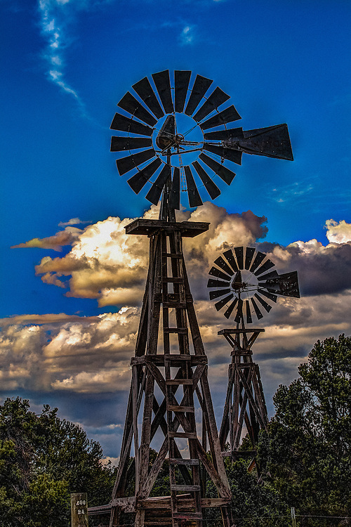 Old Retired Windmills, With A New Life At Pie Town Windmill Ranch!