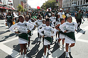 September 16, 2012- Harlem, New York: Parade Participants at the 42nd Annual African American Day Parade held along Adam Clayton Blvd on September 16, 2012 in Harlem New York City. The first African American Day Parade was held in September 1969 in Harlem. The first Grand Marshal was Congressman Adam Clayton Powell, Jr. The purpose of the parade is to provide an opportunity for African people to join together on a Special Day to highlight history and salute African people throughout America and the world for their outstanding achievements. (Terrence Jennings)