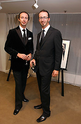 Left to right, twin brothers HOWARD MUTTI-MEWSWE and AUSTIN MUTTI-MEWSE curators of the exhibition at an exhibition of photographs entitled 'Hispanic in Hollywood' at Jaeger's Flagship store 200 Regent Street, London on 30th August 2006.<br /><br />NON EXCLUSIVE - WORLD RIGHTS