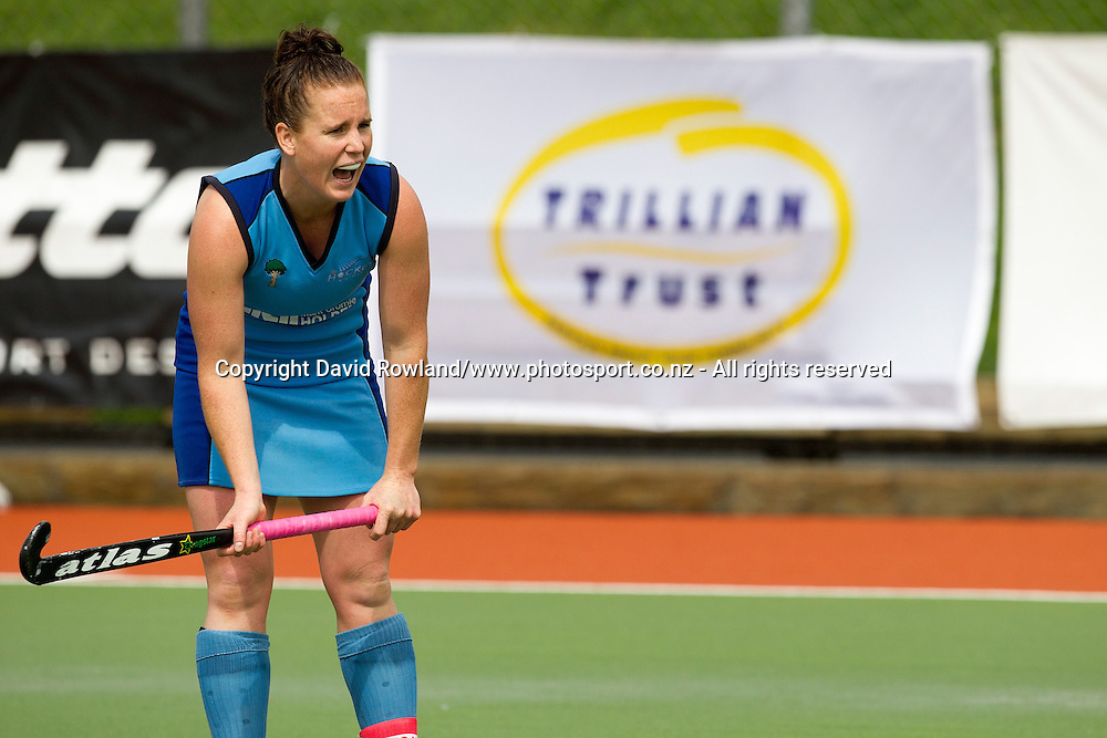 Northland`s captain Ella Gunson in the Canterbury v Northern Women`s semi-final match, Ford National Hockey League, North Harbour Hockey Stadium, Auckland, New Zealand,Saturday, September 13, 2014. Photo: David Rowland/Photosport