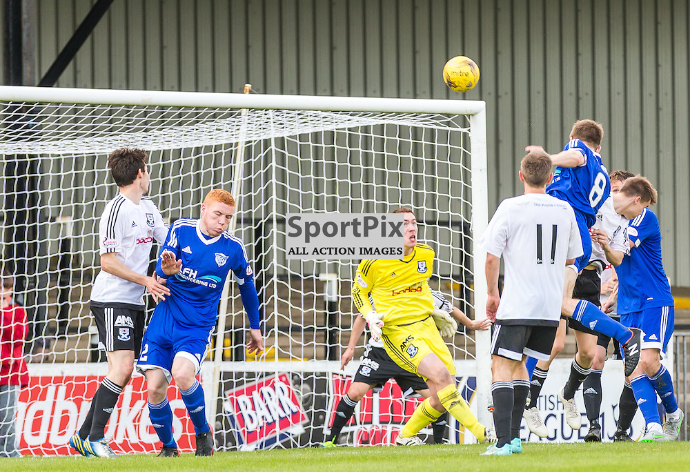 Jamie Redman scores during the Scottish League 1 fixture between Ayr Utd and Peterhead (c) ROSS EAGLESHAM | Sportpix.co.uk