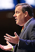 Republican presidential candidate Gov. Chris Christie speaks during the Heritage Foundation Take Back America candidate forum September 18, 2015 in Greenville, South Carolina.