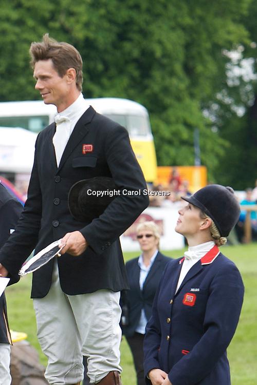Equi-Trek Bramham International Horse Trials 2012<br /> CIC3* Prize Giving<br /> William Fox-Pitt and Zara Phillips