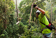Jungle Flight zip line and forest canopy tour; Chiang Mai, Thailand.