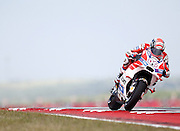 Italy's Andre Dovizioso (40) in a practice session during the 2016 Grand Prix of the Americas Moto GP race at circuit of the Americas, in Austin, Texas on April 9, 2016.