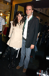 FRITZ VON WESTENHOLZ and CAROLINE SIEBER at the launch party for the fashion label Javovich-Hawk held at the Fifth Floor Cafe, Harvey Nichols, Knightsbridge, London on 27th April 2006.<br />