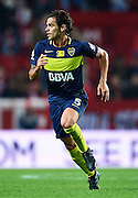 "SEVILLE, SPAIN - NOVEMBER 11:  Fernando Gago of Boca Juniors in action during the match between Sevilla FC vs Boca Juniors as part of the friendly match ""Trofeo Antonio Puerta"" at Ramon Sanchez Pizjuan stadium on November 11, 2016 in Seville, Spain.  (Photo by Aitor Alcalde Colomer/Getty Images)"